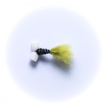 Mini Lime Green Black Booby Nymph Wet Fly Dragonflies
