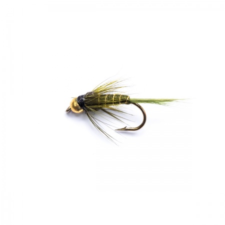 Gold Head Rough Olive Nymph by the dozen