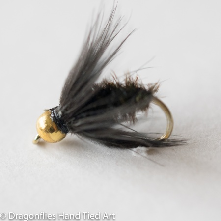 Black & Peacock Spider Gold Head  Wet Fly