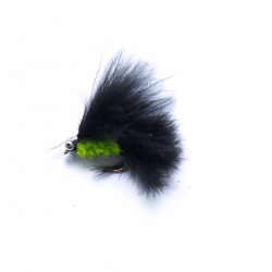 Mini Cats Whisker lime green/ black with bead chain  eyes
