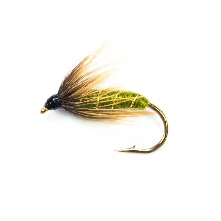 Green wells Spider wet fly per dozen