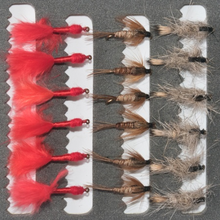 18 Nymphs Trout Fly fishing Flies GRHE, Pheasant Tail & Bloodworm Marabou