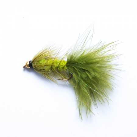 Olive gold head Woolly Bugger Lure