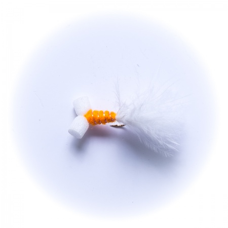 Mini Orange Booby Nymph Wet Fly