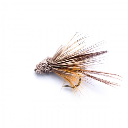 Golden Olive Dabbler Mini Muddler Wet Fly