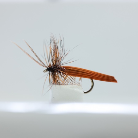 Brown Silverhorn Caddis Dry Fly by the dozen