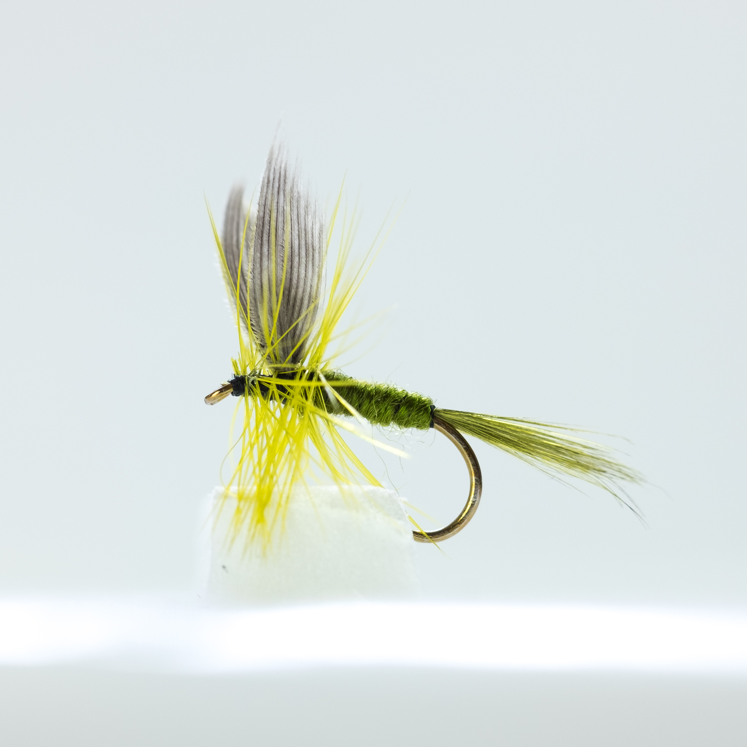 OLIVE GRHE GOLD HEAD NYMPH Trout /& Grayling Fly fishing flies Dragonflies