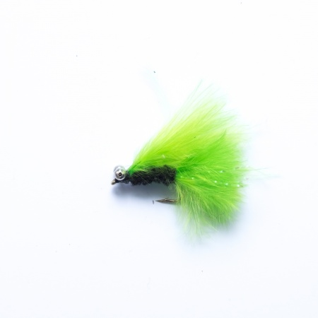 Mini Cats Whisker Black /Lime Green with bead chain eyes