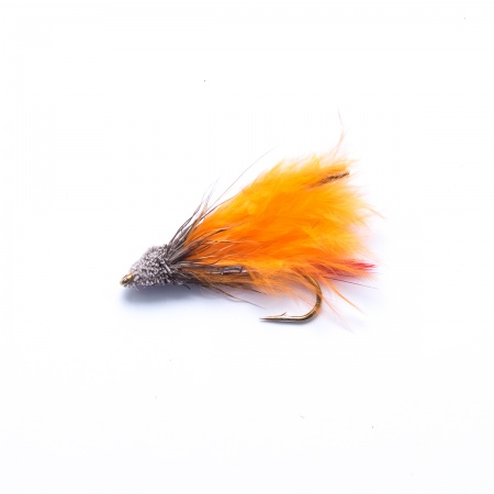 Orange Marabou Muddler Minnow Lure