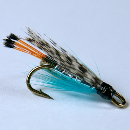 Teal Blue & Silver Wee double fly