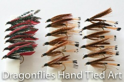 18 Wet Fly Fishing Black Pennel, Black Gnat, Dunkeild