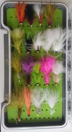 18 bead head lures with fly box