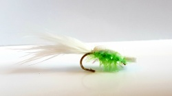 Popcorn Foam Beetle White/lime green with tail