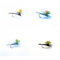 16 Indicator Parachute Dry Flies