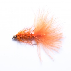 Orange gold head Woolly Bugger Lure