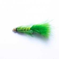 Lime Green Gold Head Woolly Bugger Lure
