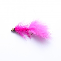 Pink Gold Head Woolly Bugger Lure