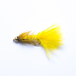 Yellow Gold Head Woolly Bugger Lure