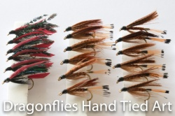 18 Wet Fly Fishing Flies Alexandria, Mallard & Claret, Fiery Brown