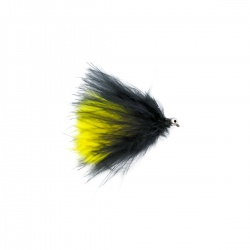 Cats whisker black and yellow barbless