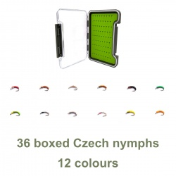 36 boxed Czech nymphs