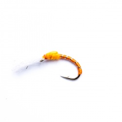 Orange buzzer wet fly