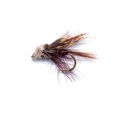 Claret Dabbler Mini Muddler Wet Fly