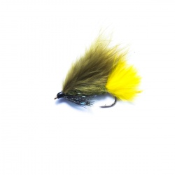 18 Pack Cats Whiskers Flash Damsels Dawsons Olive Lures Size 10 Trout Flies
