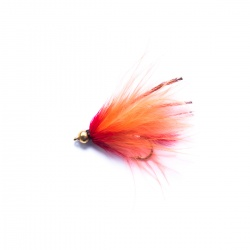 Orange Gold Head Marabou