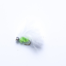 Mini Cats Whisker lime green/white  with bead chain  eyes