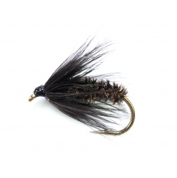 Black & Peacock Spider wet fly per dozen
