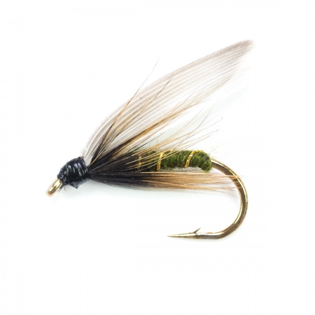 Green wells Glory  wet fly per dozen