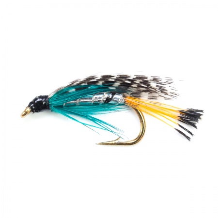 Teal Blue & Silver wet fly per dozen